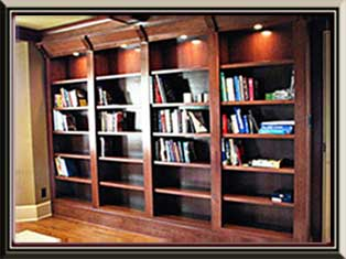 Built In Cherry Library