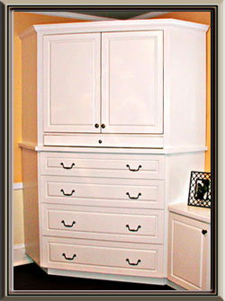 Built Ins   White TV Cabinet